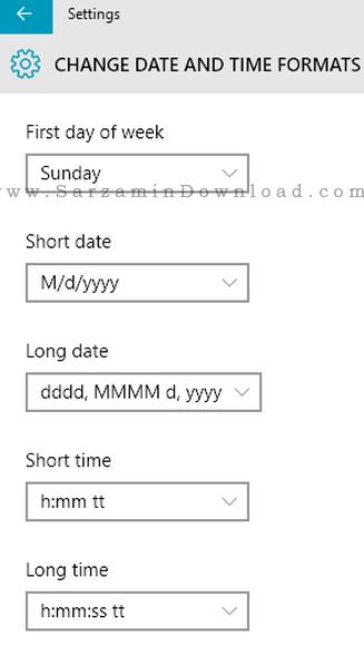 آموزش تغییر ساعت ویندوز 10 به 24 ساعته