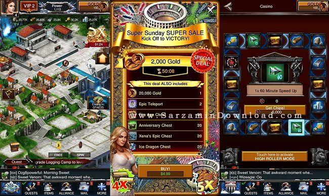 بازی استراتژیک بازی جنگ ها (برای آیفون) - Game of War 3.2 iOS