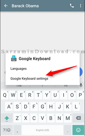 آموزش تغییر تم کیبورد گوگل