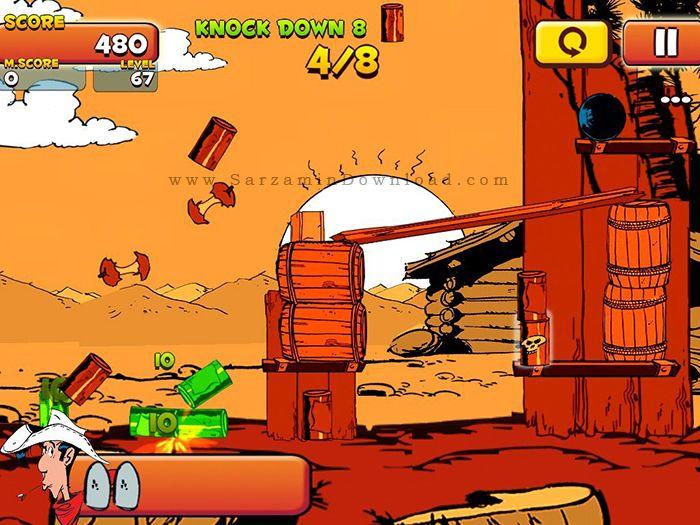 بازی لوک خوش شانس (برای اندروید) - Lucky Luke Shoot & Hit 1.0 Android