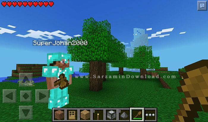 بازی ماین کرفت (برای ویندوز فون) - MineCraft 0.10 WP