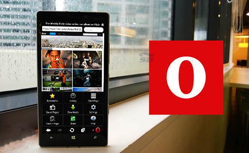 مرورگر اپرا مینی (برای ویندوز فون) - Opera Mini WP