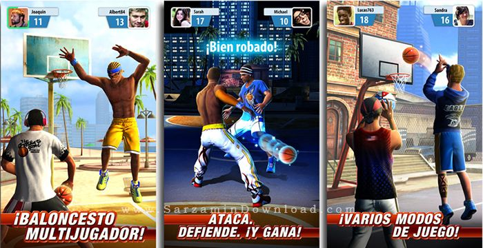 بازی بسکتبال (برای اندروید) - Basketball Stars 1.2.1 Android