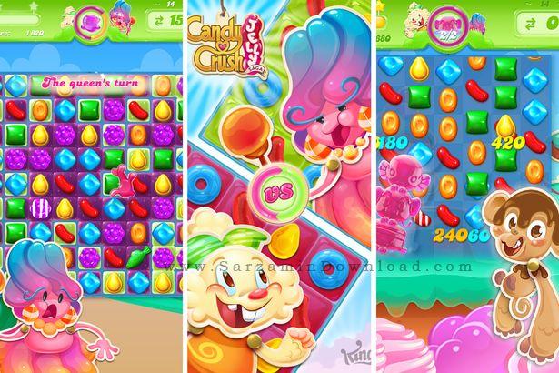 بازی کندی کراش ژله ای (برای اندروید) - Candy Crush Jelly Saga 1.17.5 Android