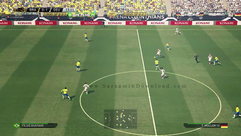 بازی فوتبال PES 2016 همراه با آپدیت جدید (برای کامپیوتر) - Pro Evolution Soccer 2016 PC Game