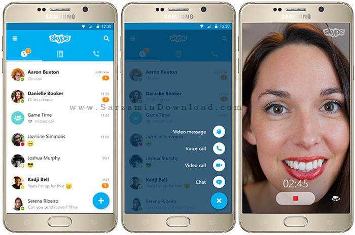 نرم افزار اسکایپ (برای اندروید) - Skype 6.34 Android