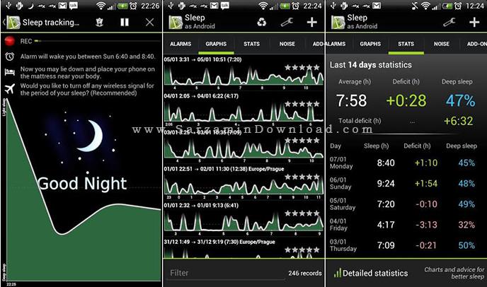نرم افزار فوق العاده خواب آرام (برای اندروید) - Sleep as Android 20160518 Android