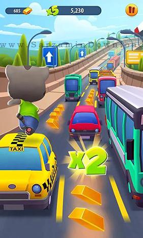 بازی گربه سخنگو (برای اندروید) - Talking Tom Gold Run 1.0.1 Android