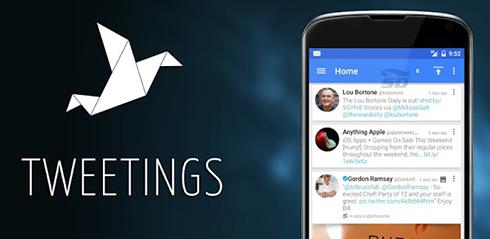 نرم افزار توییتر (برای اندروید) - Tweetings for Twitter 8.10.2 Android
