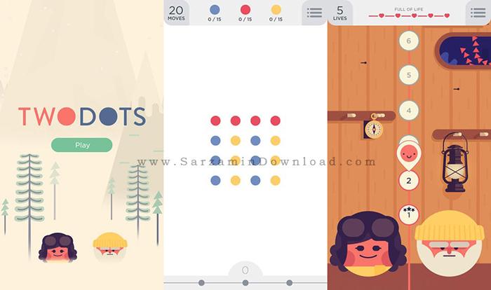 بازی دو نقطه (برای اندروید) - Two Dots 2.10.1 Android