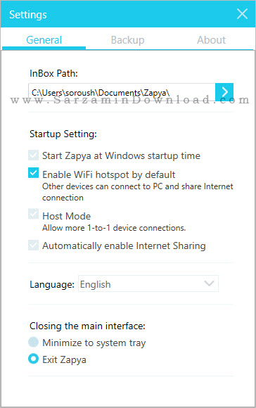 نرم افزار زاپیا (برای کامپیوتر) - Zapya 1.8.0.2 PC
