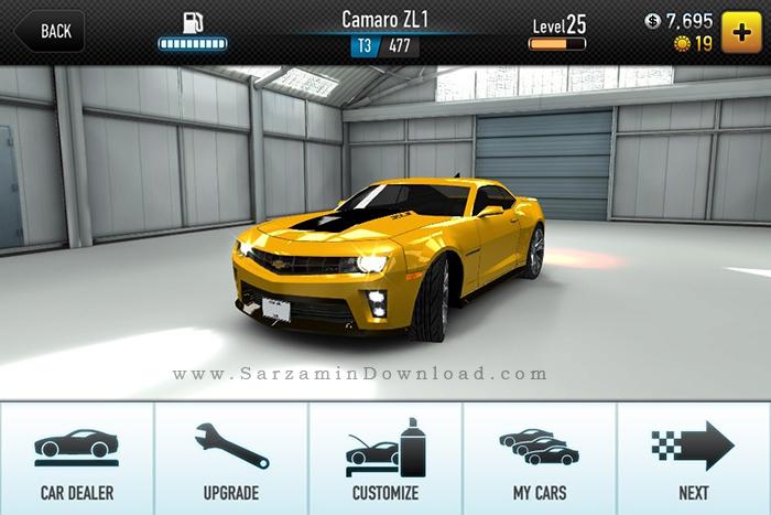 بازی مسابقات سرعت (برای اندروید) - CSR Racing 3.5 Android