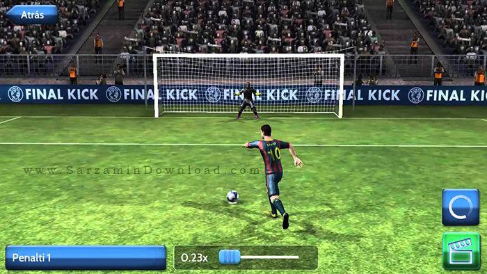 بازی ضربه ایستگاهی و پنالتی (برای اندروید) - Final Kick 3.4 Android