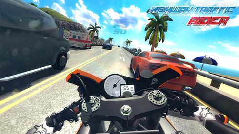بازی موتور سواری (برای اندروید) - Highway Traffic Rider 1.5.2 Android