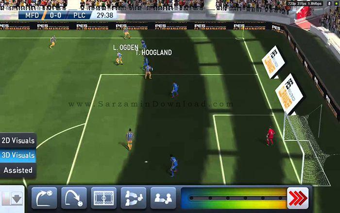 بازی مربیگری فوتبال (برای اندروید) - PES Club Manager 1.3.3 Android
