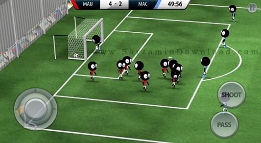 بازی فوتبال استیکمن فوتبال (برای اندروید) - Stickman Soccer 2016 v.1.1.0 Android