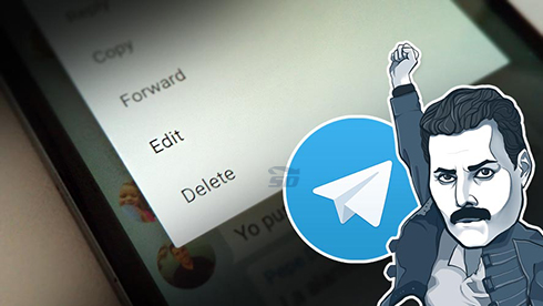 آموزش ویرایش پیام ها در تلگرام