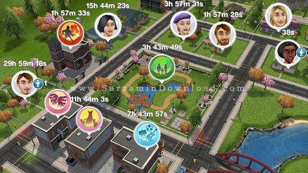 بازی سیمز (برای اندروید) - The Sims FreePlay 5.21 Android