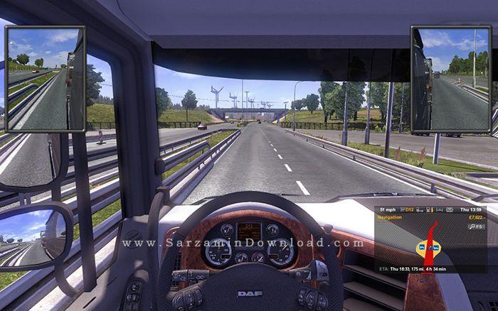 بازی شبیه ساز تریلی (برای کامپیوتر) - Euro Truck Simulator 2 PC Game