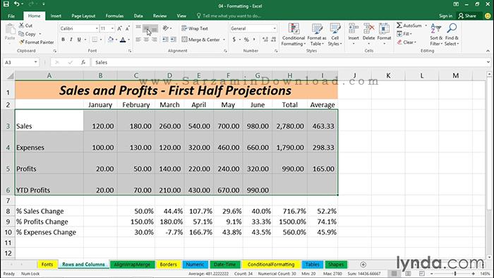آموزش کامل نرم افزار اکسل - Excel 2016 Essential Training