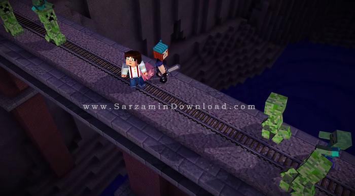 بازی ماین کرفت داستانی (برای کامپیوتر) - Minecraft Story Mode PC Game