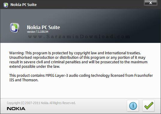 نرم افزار مدیریت گوشی های نوکیا - Nokia PC Suite 7.1.180.94