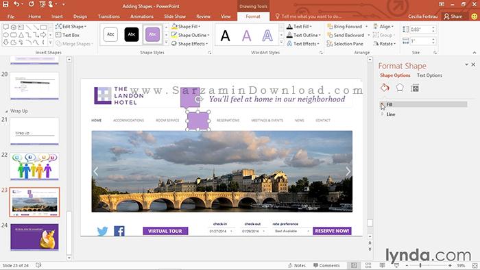آموزش کامل نرم افزار اپاور پوینت - PowerPoint 2016 Essential Training