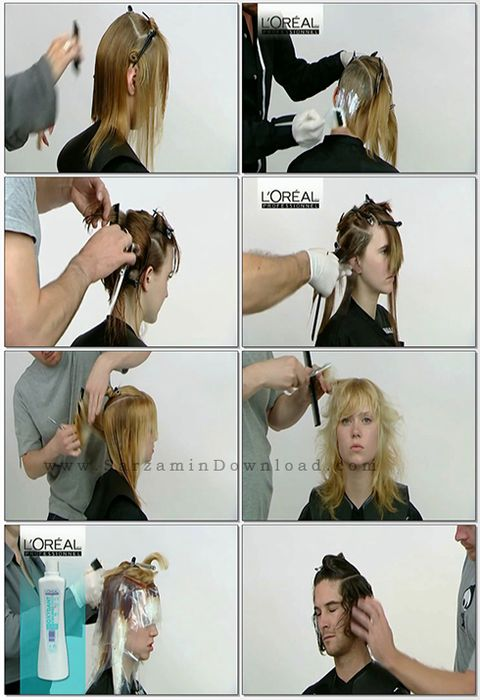 مجموعه آموزشی آرایشگری زنانه - Toni and Guy HairDressing