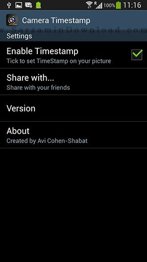 نرم افزار قرار دادن تاریخ و ساعت زیر عکس (برای اندروید) - Timestamp Camera 1.29 Android