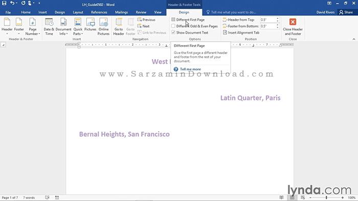 آموزش کامل نرم افزار ورد - Word 2016 Essential Training