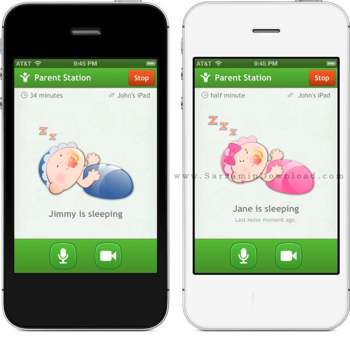 نرم افزار نظارت بر کودکان (برای اندروید) - Baby Monitor 3G 4.2.7 Android