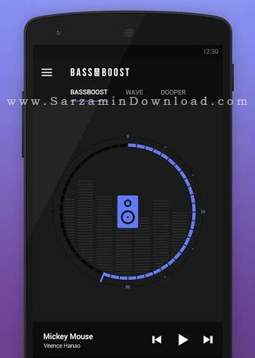 نرم افزار افزایش بیس (برای اندروید) - Bass Booster Pro 1.0 Android