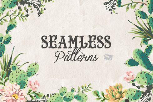 مجموعه پترن فتوشاپ - CM Geometric Seamless Pattern Bundle