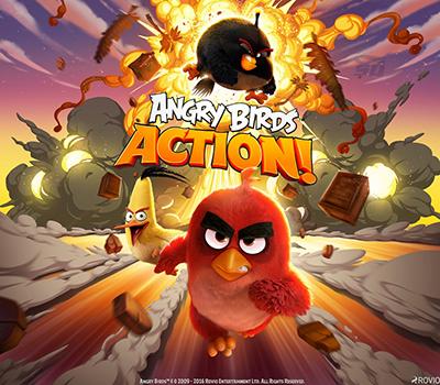 بازی پرندگان خشمگین (برای اندروید) - Angry Birds Action 2.2 Android