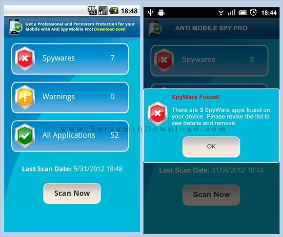 نرم افزار ضد جاسوسی (برای اندروید) - Anti Spy Mobile PRO 1.9.10 Android