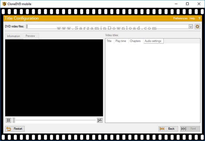 نرم افزار تبدیل DVD فیلم برای انواع گوشی موبایل - CloneDVD Mobile 1.9.5