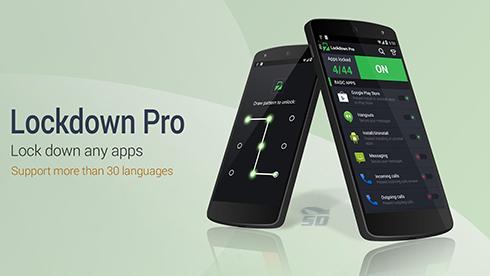 نرم افزار قفل گذاری روی برنامه ها (برای اندروید) - Lockdown Pro 2.6.7 Android