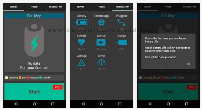 نرم افزار تعمیر باتری (برای اندروید) - Repair Battery Life PRO 3.81 Android
