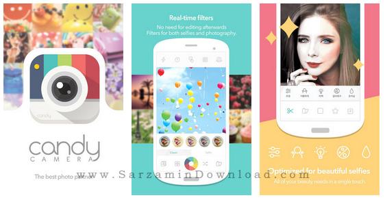 نرم افزار افکت دوربین (برای اندروید) - Candy Camera for Selfie 2.95 Android