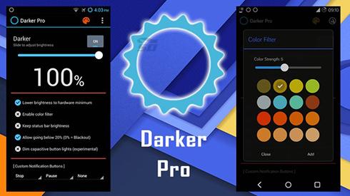نرم افزار تنظیم نور صفحه (برای اندروید) - Darker Pro 2.4.3 Android