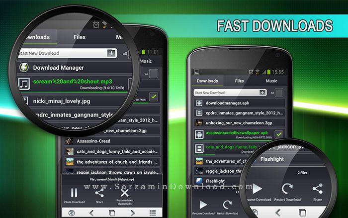 نرم افزار مدیریت دانلود (برای اندروید) - Download Manager for Android 4.95 Android
