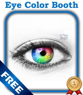 نرم افزار تغییر رنگ چشم (برای اندروید) - Eye Color Booth Pro 1.0 Android