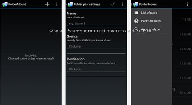 نرم افزار انتقال برنامه ها به مموری کارت (برای اندروید) - FolderMount Premium 2.9.9 Android