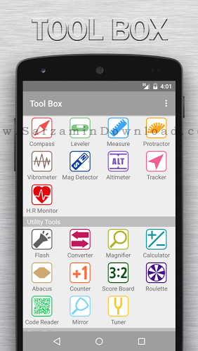 نرم افزار جعبه ابزار (برای اندروید) - Tool Box 1.6.5 Android