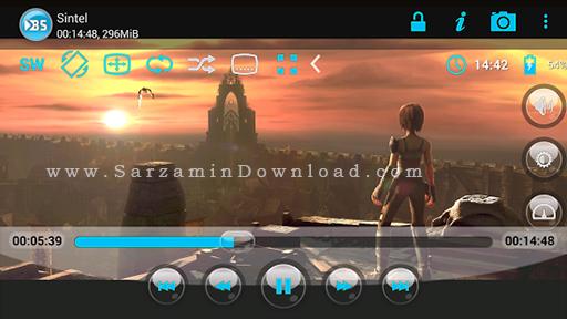 نرم افزار نمایش فیلم با زیر نویس (برای اندروید) - BSPlayer Lite 1.21.124 Android