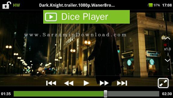 نرم افزار نمایش فیلم با زیر نویس (برای اندروید) - DicePlayer 2.0.57 Android