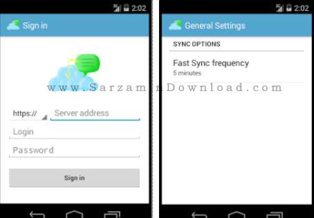 نرم افزار بکاپ گیری اس ام اس (برای اندروید) - OwnCloud SMS 0.16.1 Android