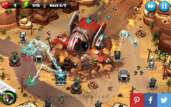 بازی دفاع از قلعه (برای اندروید) - Alien Creeps TD 2.5.1 Android