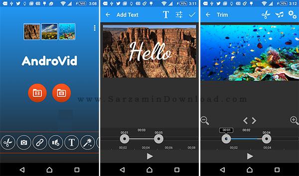 نرم افزار چسباندن فیلم ها به هم (برای اندروید) - AndroVid Pro 2.7.2 Android