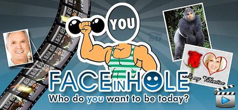 نرم افزار گذاشتن سر روی بدن دیگران (برای اندروید) - FACEinHOLE 3.9.23 Android